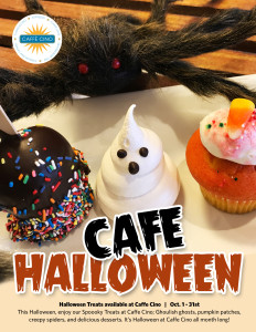 Halloween treats flyer